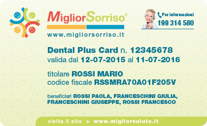MigliorSorriso-Dental Plus Card